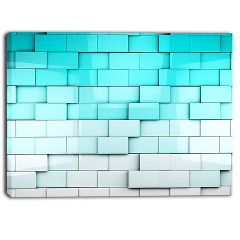 blue mosaic cubes contemporary artwork PT6828