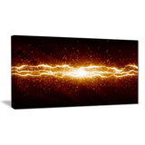 lightning on dark sky contemporary canvas art print PT6837