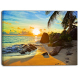 sunset in tropical beach landscape photo canvas print PT6843