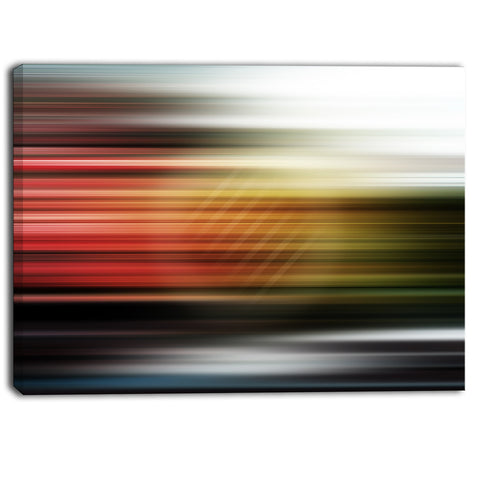 horizontal lights contemporary art canvas print PT6844
