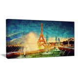 eiffel tower from fountain landscape digital canvas print PT6853