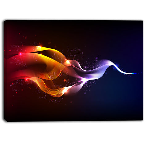abstract vector waves contemporary canvas art print PT6855
