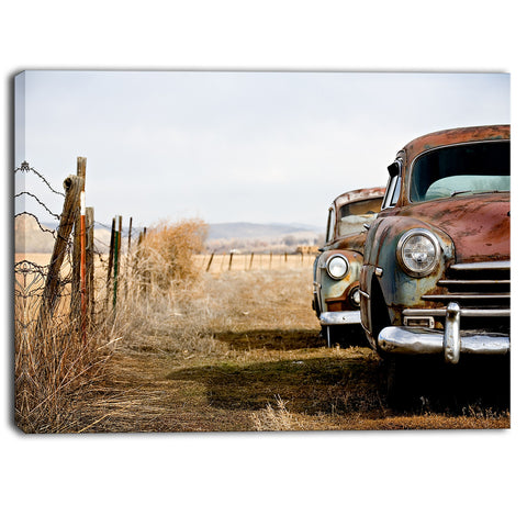 vintage cars contemporary canvas art print PT6858