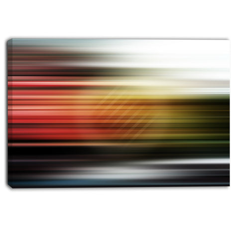 horizontal lights contemporary art canvas print PT6859
