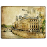 old parisian cards digital canvas art print PT6864