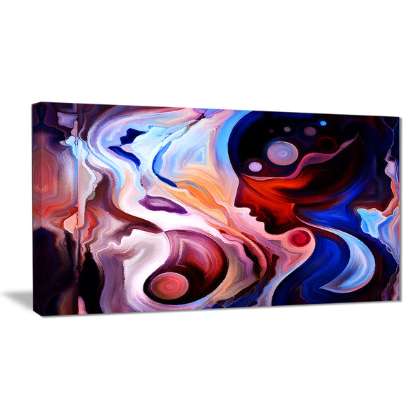 watching woman painting abstract canvas art print PT6868