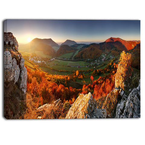 autumn mountains panorama photo canvas art print PT6872