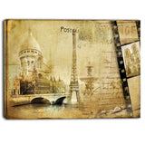 paris memories vintage contemporary canvas art print PT6879