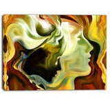 metaphorical inner self abstract canvas art print PT6882