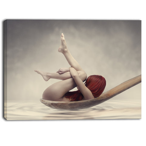 beauty bath contemporary canvas art print PT6892