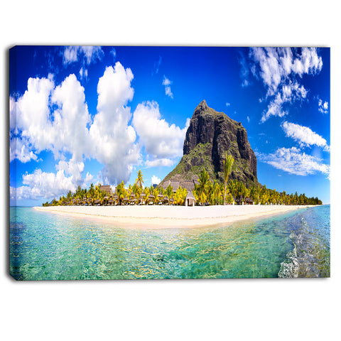 mauritius beach panorama photography canvas print PT6898