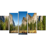 yosemite valley panorama landscape canvas art print PT6900