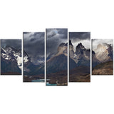 torres del paine, cuernos mountains photo canvas print PT6911
