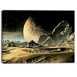 crashed spaceship contemporary canvas art print PT6912