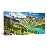 lake on green valley photography landscape canvas print PT6914