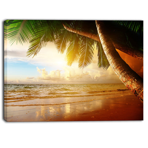 caribbean beach sunrise landscape photo canvas art print PT6917