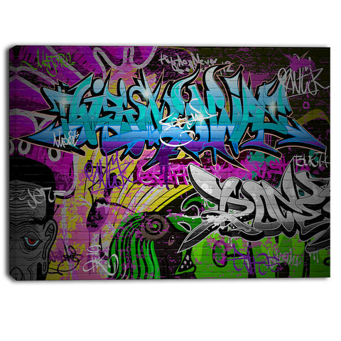 graffiti wall urban art abstract street art canvas print PT6931