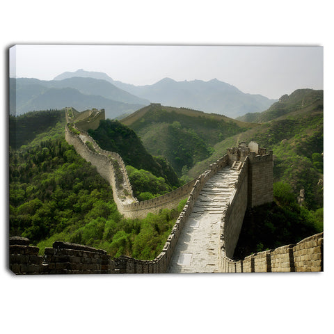 great wall of china photography canvas art print PT6953