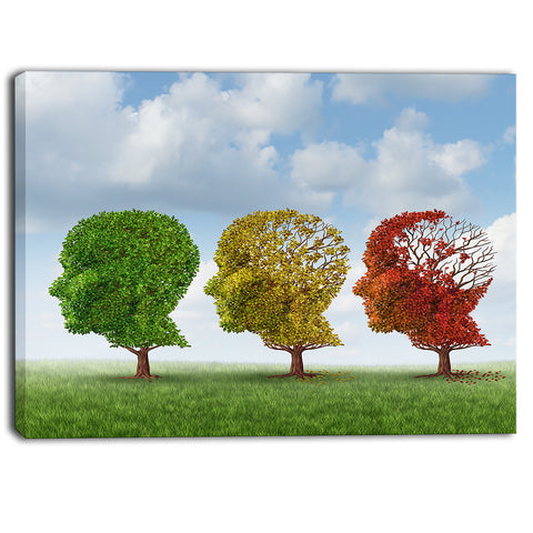 brain aging digital canvas art print PT6970