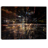 glow of technology contemporary canvas art print PT6975