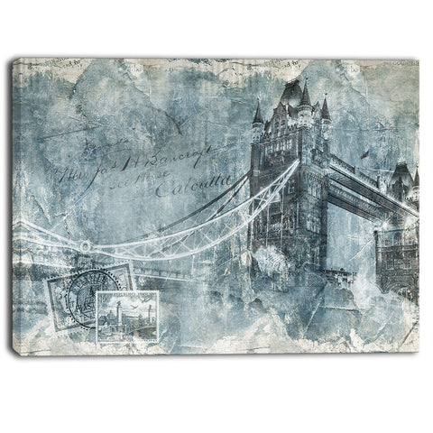 tower bridge london contemporary canvas art print PT6978