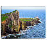 rocky ocean coastline scotland photo canvas art print PT6979