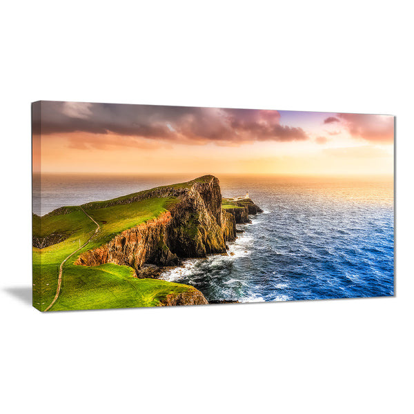 ocean cost at sunset photography canvas art print PT6980