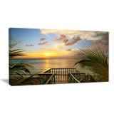 sunset sea view from terrace photo canvas art print PT6982