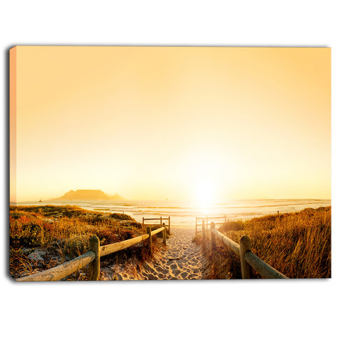 beach near cape town panorama photo canvas art print PT6992