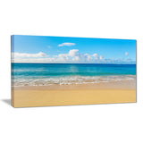 calm beach and tropical sea photo canvas art print PT6996