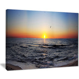 sunrise at sea panorama photo canvas print PT7007
