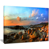 colorful tropical sunset photo canvas print PT7014