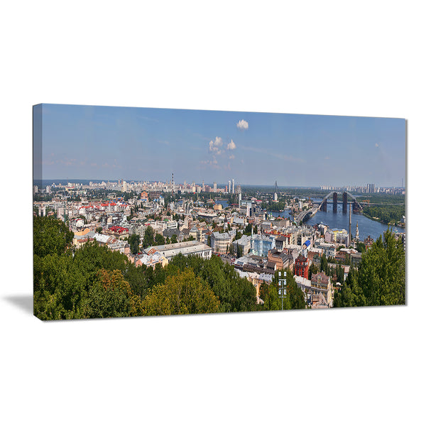 kiev cityscape panorama photo canvas print PT7057