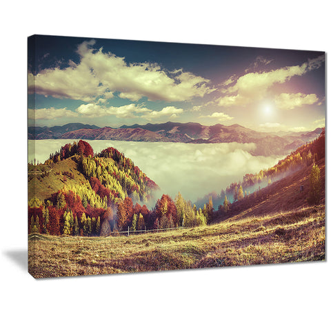 autumn panorama of mountains photo canvas print PT7071