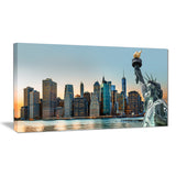 new york city skyline panorama photo canvas print PT7075
