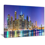 new york cityscape panorama photo print on canvas PT7078