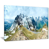 alps summer panorama photography canvas art print PT7081