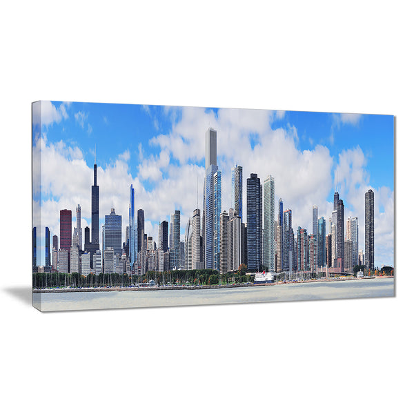 chicago city urban skyline photo canvas print PT7084