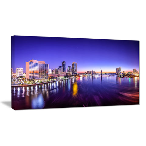 jacksonville florida city cityscape photo canvas print PT7086