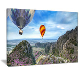 mountains and balloon landscape photo canvas print PT7098
