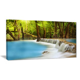 clam huai mae kamin waterfall landscape canvas print PT7103