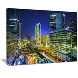 bangkok city night view cityscape photo canvas print PT7105