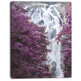 klonglan waterfall floral canvas art print PT7113