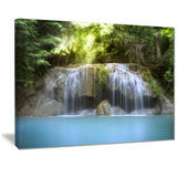 erawan waterfall photography canvas art print PT7114