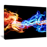 red and blue smoke abstract digital art canvas print PT7124