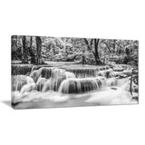 white erawan waterfall landscape photo canvas print PT7131
