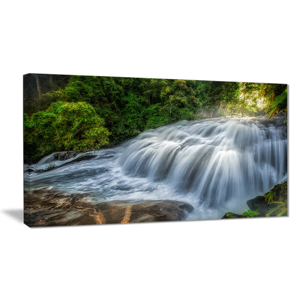 flowing pha dokseaw waterfall landscape photo canvas print PT7133