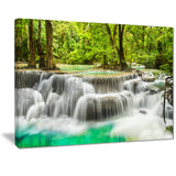 panoramic erawan waterfall landscape photo canvas print PT7137