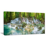 level 6 of huaimaekamin waterfall landscape canvas print PT7138