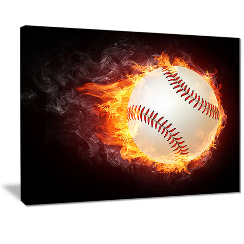 baseball ball sports digital art print on canvas PT7152